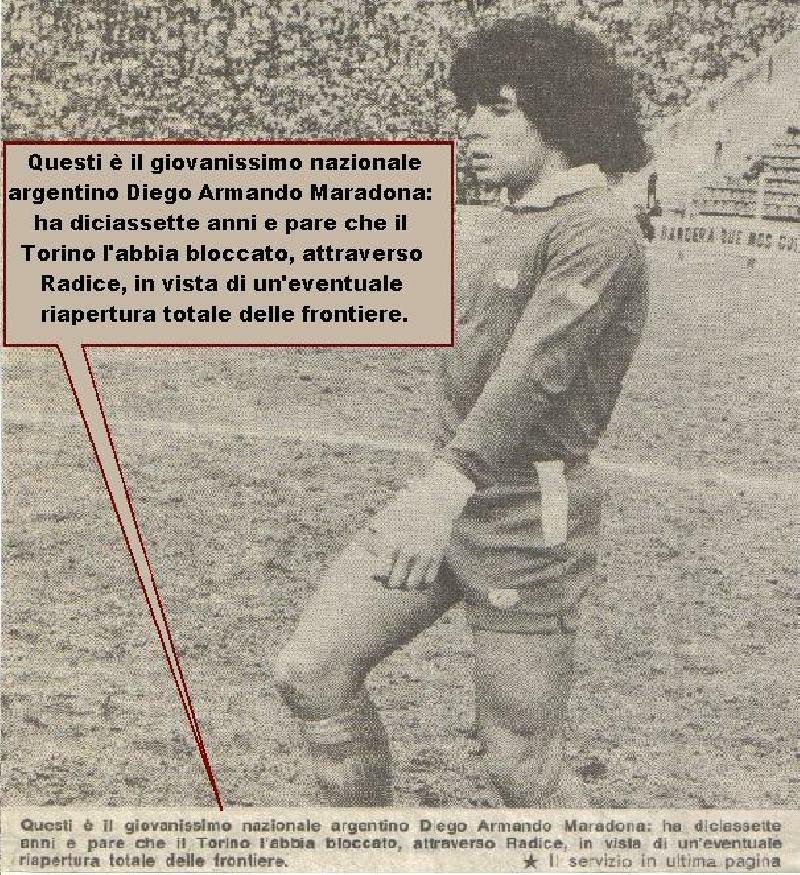 Maradona poteva vestire la maglia del Toro?